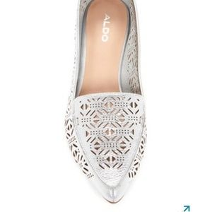 Aldo Onerin Laser-Cut Pointed Toe Flats